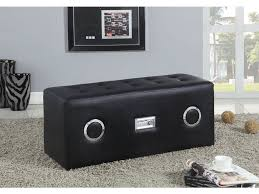 Living Room Bluetooth Speakers Acme Furniture Living Room Laila Sound Lounge Bench With Bluetooth