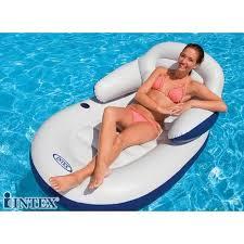 siege de piscine gonflable fauteuil de piscine deluxe intex achat vente matelas gonflable