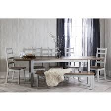 Dark Dining Table by Hever Dining Table With 6 Chairs In White And Dark Pine Noa U0026 Nani