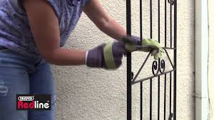 how to paint a rusty gate youtube