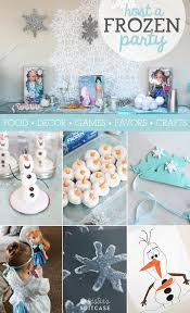 frozen party disney frozen party ideas my s suitcase packed with