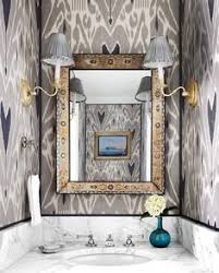 wallpapered bathrooms ideas wallpapered powder bath nest design co wallpapered bathroom
