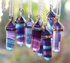 purple crystal stone necklace images Jewels necklace style purple blue stone gem stone necklace jpg