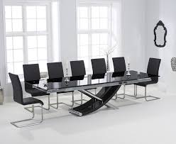 Enchanting Black Extendable Dining Table And Chairs  For Your - Black glass dining room sets