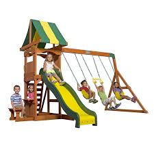 amazon com backyard discovery weston all cedar wood playset swing
