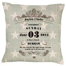 gifts for confirmation christening baptism confirmation cushion gift shop