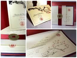 Asian Wedding Invitation Asian Theme Wedding Cards U2013 Red And Ivory