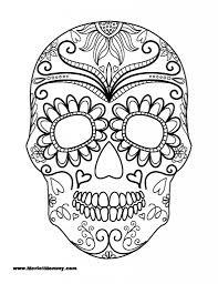 Halloween Printable Cutouts by Mexican Skull Coloring Pages Getcoloringpages Com