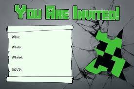 free printable birthday invitations minecraft minecraft invitation as well as birthday invitations party