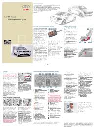 audi tt coupe mk1 quickreferenceguide pdf automatic transmission