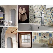 blue kitchen tile backsplash porcelain tiles swimming pool glazed ceramic mosaic beige