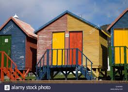 St Ives Beach House Colorful Beach Houses In St James Near Cape Town South Africa