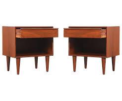 mid century modern walnut nightstands by westnofa at 1stdibs