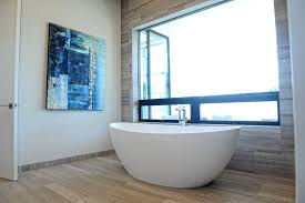 los angeles claw foot tubs bathroom contemporary with wall art