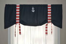 Nautical Valance Curtains Window Valance Nautical Valance Tie Up Valance White And