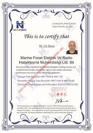 Radio Training Courses Headway Tech Co Ltd Vdr Svdr And Ecdis Training Certificate