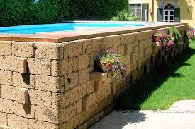 rivestimento in legno per piscine fuori terra piscine da giardino fuori terra pro contro acquavivastore