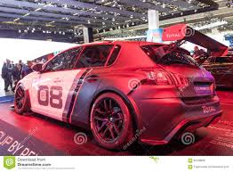 peugeot germany peugeot 308 racing cup at the iaa 2015 editorial stock image