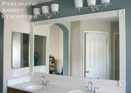Framing Existing Bathroom Mirrors Add Trim To Bathroom Mirror Wood Around Diy Molding Mirrors Frame