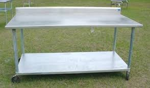 stainless steel prep table used stainless steel prep table commercial restaurant 350 ta