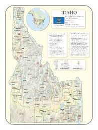 map of idaho cities idaho wall maps national geographic maps map quest rand mcnally