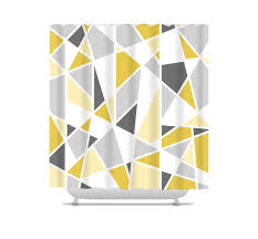 Yellow And Gray Bathroom Decor by Geometric Shower Curtain Mustard Yellow And Gray Bathroom