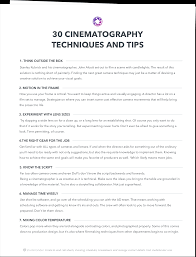 Tip Sheet For Your Creative 30 Cinematography Techniques Tips You Didn T Learn In