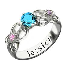 s day birthstone rings aliexpress buy personalized secret message infinity ring