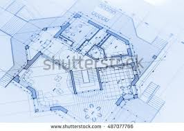 blueprints house architecture blueprints house plans stock photo 487077766