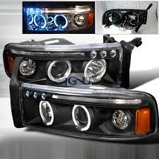 2001 dodge ram headlights dodge ram 1994 2001 black halo projector headlights w led s