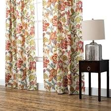 Spencer Home Decor Jacobean Style Floral Eyelet Curtains Jacobean Floral Lined