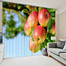 Apple Curtains For Kitchen by Senisaihon Modern Style 3d Blackout Window Curtains Apple Grape