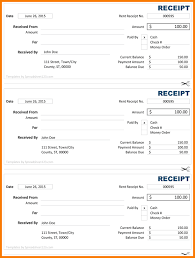 7 receipt template excel receipt templates