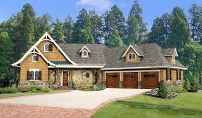striking mountain house plan with options 25621ge