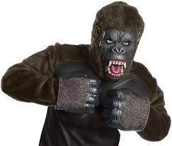 gorilla halloween mask costumes licensed