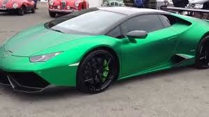 red chrome lamborghini chrome green lamborghini huracan youtube