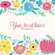 imagenes vectoriales gratis plantilla vectorial con flores de colores vector gratis