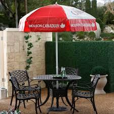 6 Foot Patio Umbrellas Molson Canadian 6 Ft Patio Umbrella From Hayneedle