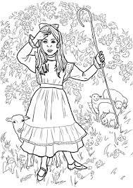bo peep nursery rhyme coloring free printable
