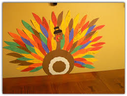 great thanksgiving craft idea kids add feathers to the turkey