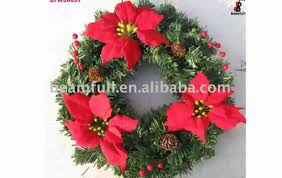 decorated artificial wreaths