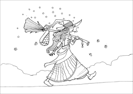 vagabond witch coloring free printable coloring pages