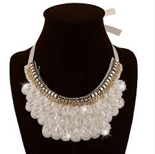 collar necklace beads images New arrival handmade false collar necklace black crystal beads jpg