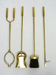 brass fireplace tool set 5 pc oneandhome
