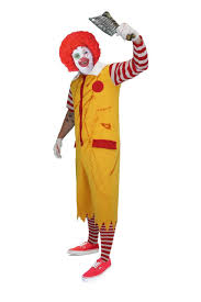 clown costume adults ronald clown costume fast food scary