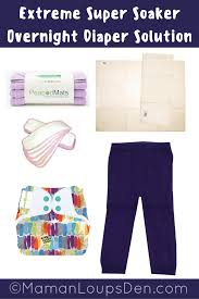 Cloth Diaper Starter Kit Extreme Super Soaker Overnight Cloth Diaper Combo Diapers