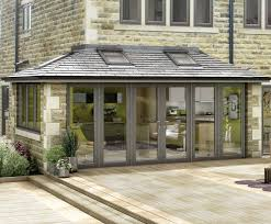 Sunroom Extension Designs Tiled Conservatory Nice Traditional Look And Good Mix Of Open And
