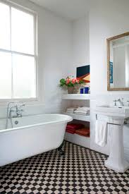 Modern Vintage Bathroom Vintage Modern Bathrooms Checkerboard Floor Home Pinterest