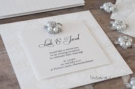 embossed wedding invitations how to make ivory embossed wedding stationery imagine diy