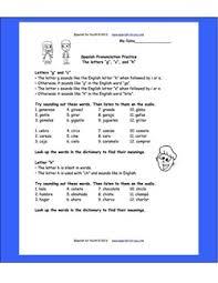 free spanish pronunciation practice worksheet plus audio